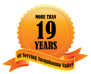 Celebrating 15 years serving Susquehanna Valley